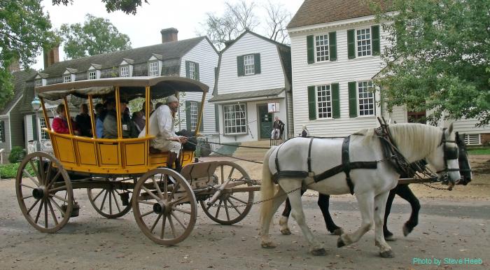 1774-era Carriages at Williamsburg (multiple)