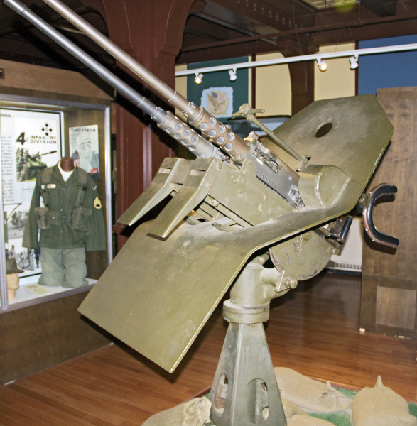 Twin 50 anti-aircraft mount
